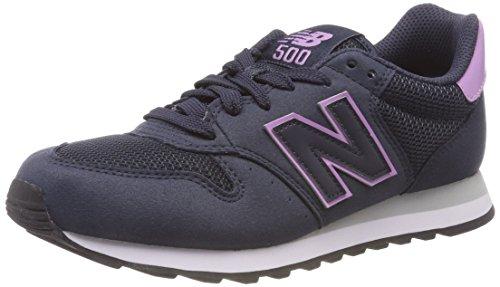 New Balance, Damen Sneaker, Blau (Navy/Purple Rnp), 40.5 EU (7 UK)