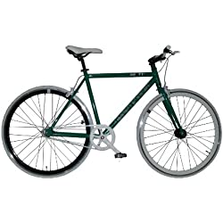 "Bicicleta FIXIE Gotty FX-40, Cuadro Fixie Acero 28"", Llantas doble pared, piñon fijo, Bielas de aluminio, tija de sillín de aluminio, color verde"