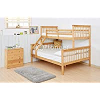 PIONEER TRIPLE BUNK BED KIDS BEDS ADULTS BEDS IN OAK Colour BUNK BED FOR KIDS