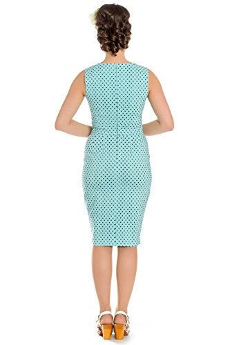 Hell Bunny Etui Kleid MILEY PENCIL DRESS 4664 Blau