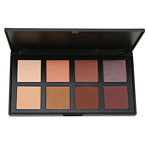 Eye Shadow Makeup Palette 8 Color Nude Brown Colour, Seprofe Matte Shimmer Neutral Tone Cosmetics Pallet, Earth/Brown/Water Proof Beauty Grid Tool Kit, Bronzer & Highlighter Powder Bases Primer