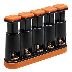 Gitarren Hand Finger Exerciser Grip Trainer Fingertrainer Handtrainer Instrument für Erwachasene Orange & Schwarz