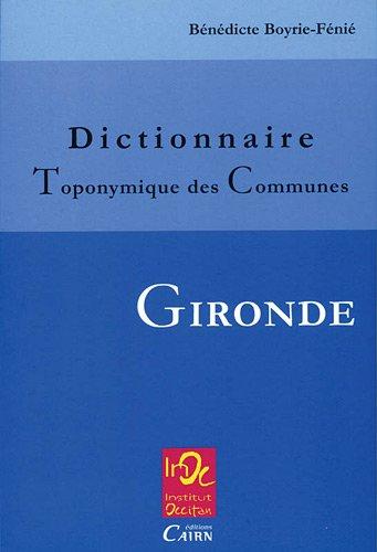 Dictionnaire : Toponymique des Communes