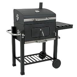 BBQ-Toro Holzkohle Grillwagen Black Oak BBQ Smoker Premium Barbecue Grill Luxus Gartengrill