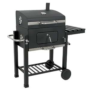 """BBQ-TORO Holzkohle Grillwagen """"Black Oak"""" BBQ Smoker Premium Barbecue Grill Luxus Gartengrill"""