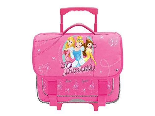 Cartable rose Princesses Disney. Avec roulettes. Idéal pour les enfants en CE1/CE2.
