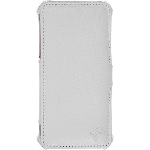 PhoneNatic Echt-Lederhülle für Apple iPhone 7 Leder-Case braun Tasche iPhone 7 Hülle + Glasfolie Weiß