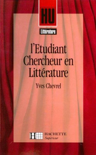 L'étudiant-chercheur en littérature (HU Littérature)