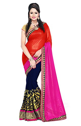 2D Saree Now Available-2D Saree/Nakashi 2D Saree (RoYaL_Sari_74/Nakashi-2D#Sari-201_RP) (Blue-Pink) amazon summer sale