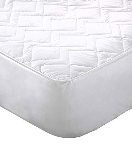 Lancashire Bedding - Protector de colchón de alta calidad, transpirable, mantiene el colchón fresco, con tecnología '3D Air Relax', ayuda a la circulación del aire., algodón, 180 x 200 cm