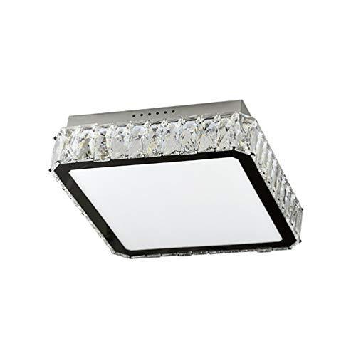 Modern LED Chrom Kristall Deckenleuchte Crystal Dekorative Deckenlampe Square Design 30W Leuchte für Wohnzimmer Schlafzimmer Esszimmer 2100lm Ø40cm*10cm Aluminium, Warmes Licht 3000K