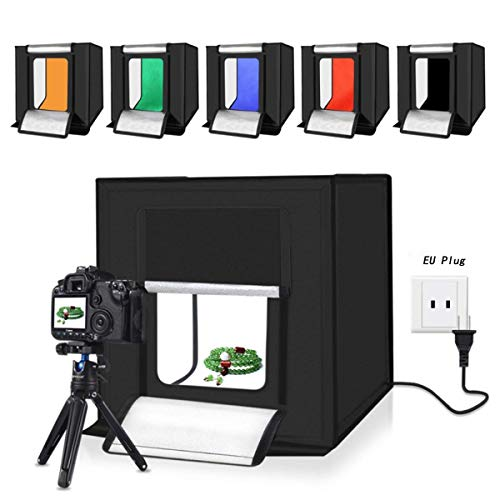 Jhs-tech Kleine Faltbare Led Lichtbox Sof Mini Tragbares Fotostudio Schießzelt Aufnahmetische & Lichtwürfel