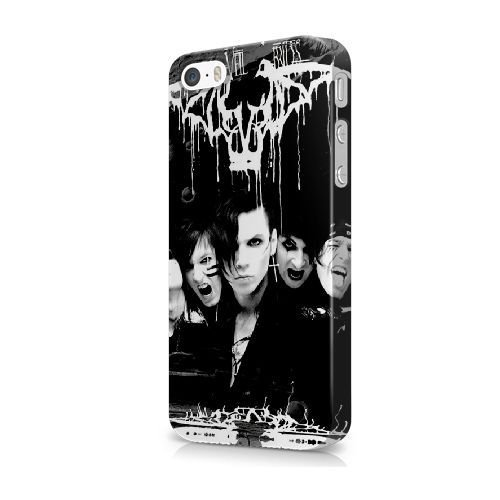 iPhone 5/5S/SE Cover, Bretfly Nelson® BLINK 182 Serie Plastica Dura Snap-On Caso Pelle Cover per iPhone 5/5S/SE KOOHOFD919097 BLACK VEIL BRIDES - 022