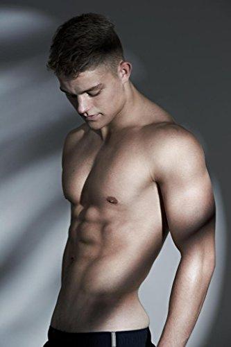 Gießerei Schön und Hunky Hot Guy Poster Shirtless Foto Kunstdruck von proframes 36x54 inches Poster