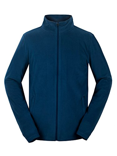 aparso Herren Fleecejacke Fleece Pullover atmungsaktiv warm  (XL), blue Micro Performance Fleece-pullover