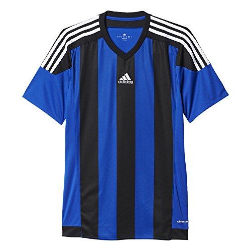Adidas–Maglietta Striped 15 Bold Blue/Black/White