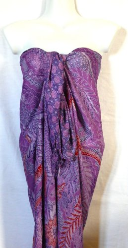 Cover-up Wrap-skirt (Pareo Strandtuch Bad Meer Sarong Größe Beach Cover up Wrap Skirt Purple Pareo)