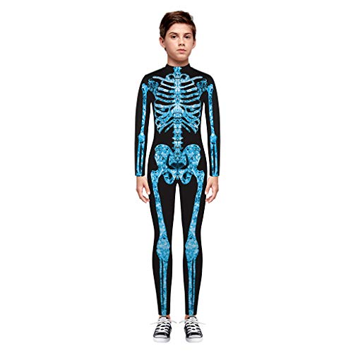 DIASTR Neugeborenes Baby Mädchen Bekleidungsset Outfits Strampler Ghost Pumpkin Hose Hat Kostüm Halloween Kostüm Kurzarm Strampler Overall T Shirt Junge Baby Hose Hat 3 Stück(3m-3y)
