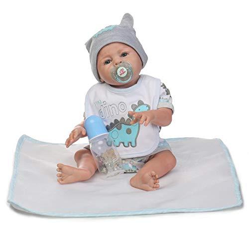 iCradle Reborn Baby Doll 20 Zoll 50cm ilikon Ganzkörper Silikon Baby Puppe Weiche Reborn Babypuppe Look Echte Nette Lebensechte Baby Doll Toddler Junge (Boy) -