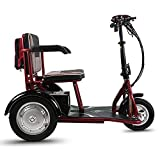 CYGGL Mini Scooter Elettrico a Tre Ruote Pieghevole carico per Adulti o disabili 120 kg - Chilometraggio Massimo 55 km