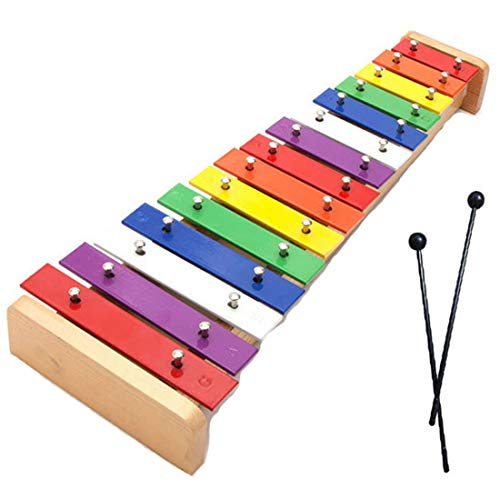 WDYJMALL Wooden Xylophone Glockenspiel Musical Toy with 15 Tones Note for Baby Kids Toddlers Children