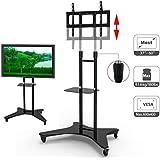 """HFTEK® ST31 Soporte de pie con ruedas para pantallaplanasoporte de suelomóvil TV Stand para televisores Monitor 37"""" - 60"""" hasta 81 kg"""