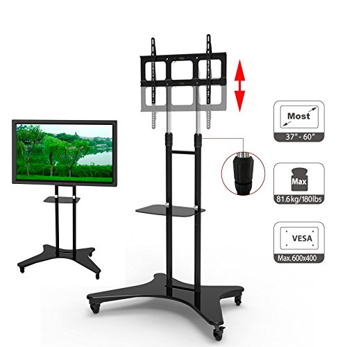 """HFTEK® LCD LED TV Flachbildschirm Fernseher Ständer - mobiler Standfuß mit TV-Adapter 37"""" - 60"""" (ST31)"""