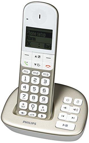 Philips XL4951S/38 schnurloses Telefon (leicht bedienbar, große Tasten, hörgerätekompatibel) silber