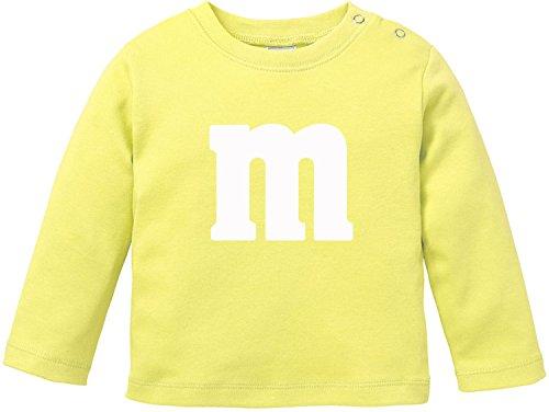 Gruppe Paar Kostüm - EZYshirt Karneval Fasching | Junggesellenabschied | Gruppen & Paar Kostüm mit M Aufdruck Baby T-Shirt Longsleeve Bio Baumwolle