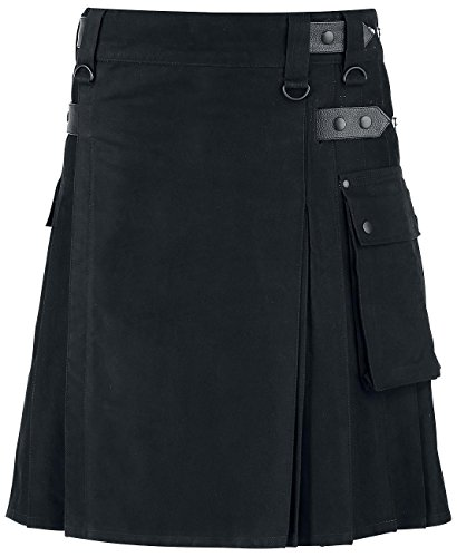 Black Premium by EMP Black Kilt Kilt nero XL