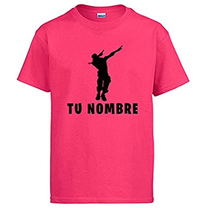 Camiseta Fortnite Pose Dab Personalizable con N...