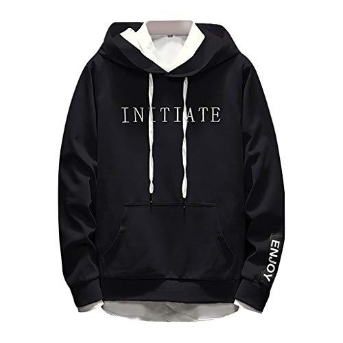Heiß! Kapuzenpullover für Männer, Herren Fashion Hoodies Langarm Schutz Einfache Buchstaben Gedruckt Sweatshirt, M ~ 3XL -
