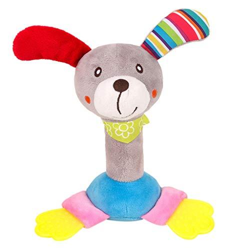 Mitlfuny Kinder Erwachsene Entwicklung Lernspielzeug Bildung Spielzeug Gute Geschenke,Tier-Handglocken-musikalische Baby-weiche Spielwaren Entwicklungsrassel-Bett scherzt Griff-Spielzeug