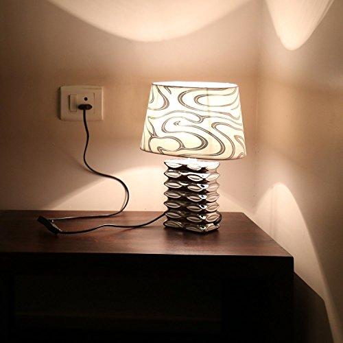Kurtzy Modern Luxurious Table Desk Lamp Beautiful Art Decor Elegant Light for...