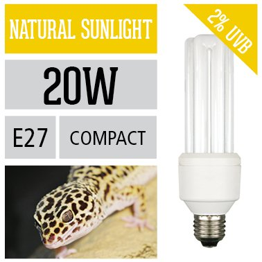 Arcadia Energiesparlampe 20 Watt Sunlight für Terrarium