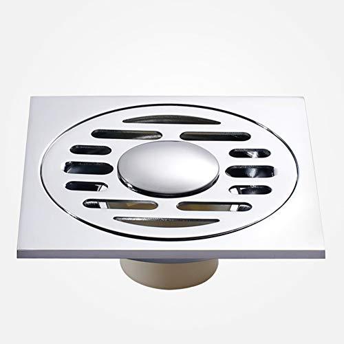 GYY-TAP Bodenablauf abnehmbare Abdeckung eckig Edelstahl Duschablauf mit Abflussschutz Abflussgitter Abtropfgitter für Badezimmer Wäsche Garten Küche -