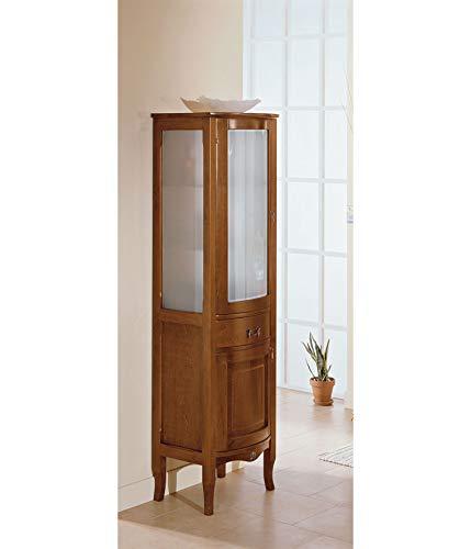 Iris colonna noce complemento da bagno in legno in stile classico