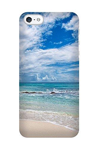 iPhone 4/4S Coque photo - vagues de l'océan sur la plage