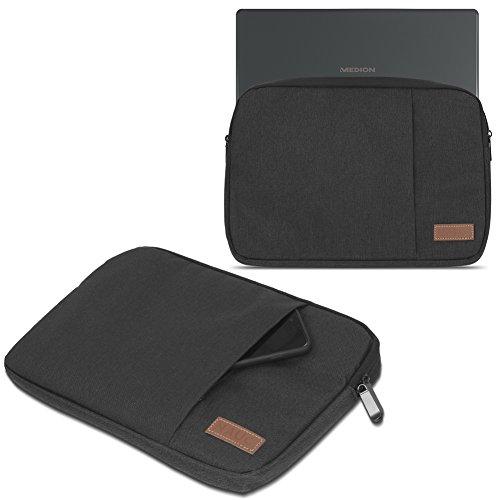 Medion Akoya E2228T Hülle Tasche Notebook Schutzhülle Schwarz / Grau Cover Case, Farbe:Schwarz