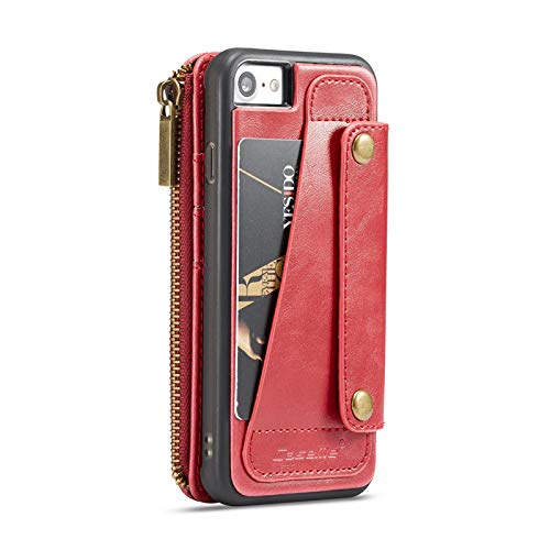 iPhone XR Case Cover,MeiLiio Premium PU Leather Detachable Zipper Wallet  Case,6 1 inch Smart Wallet Screen Protector with Card Slots Retro Vintage