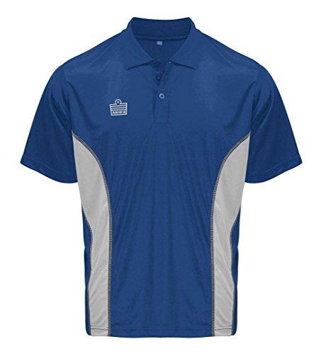 Admiral Argo Fußball-Trainer Sideline Polo Shirt, Royal/Silber, Erwachsene 3x große (Tee T-shirt Silber Erwachsene)