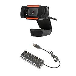 Segolike HD USB Night Vision Camera Web Cam With Mic+USB 2.0 Hub 4 Ports for Laptop