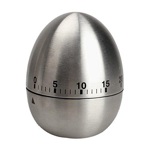 Eieruhr aus rostfreiem Edelstahl von JOOVI - perfekte Unterstützung beim Backen und Kochen - Mechanischer Zeitmesser bis 60 Minuten