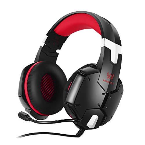 LRWEY Kopfhörer, 3,5 mm Hochpräzise Gaming Omnidirektionale Rauschunterdrückung Bass Stereo Headsets für iPhone, iPad, Samsung, Huawei, xiaomi und mehr