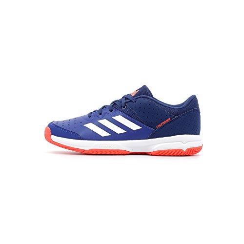Adidas Court Stabil Jr, Chaussures de Handball Mixte Adulte, Multicolore (Tinmis/Ftwbla/Azuosc 000), 38 2/3 EU