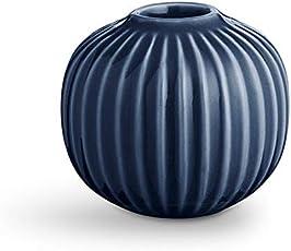 Kähler 18182 Hammershøi - Kerzenhalter - Kerzenständer - Keramik - Indigo/Blau - Höhe 6,5 cm