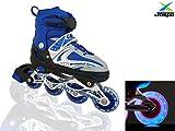 Jaspo Sparkle Adjustable Inline Skates with Front Light up Wheels Beginner Skates Fun