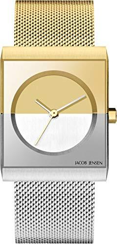Jacob Jensen Reloj Analógico para Mujer de Cuarzo con Correa en Acero Inoxidable JJ526