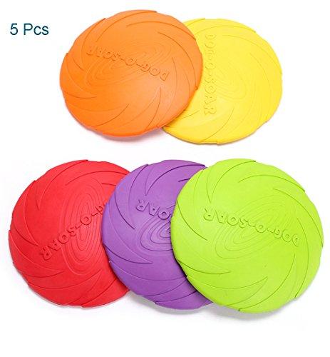 Cutepet Bälle Frisbee Naturkautschuk Spielzeug Für Hunde Kauspielzeug IQ-Training Spiel 5 Pcs T-71340