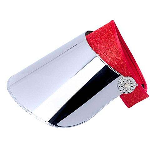 Black Temptation Chapeaux de visière de Large Bord de Chapeau de Dame Protection UV Chapeaux de Soleil d'été Empty-Support